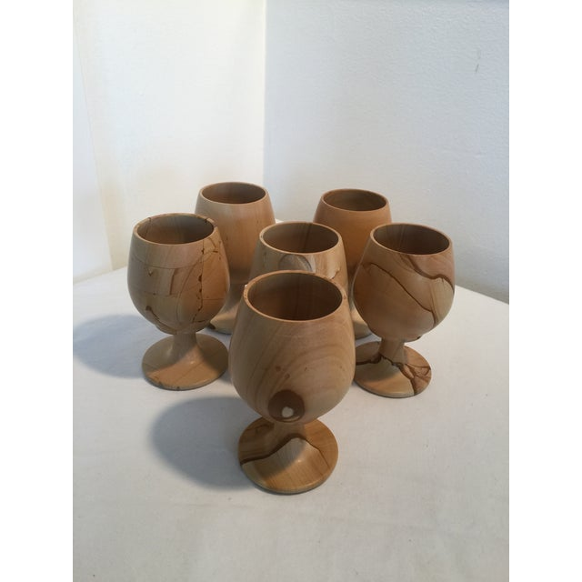 Natural Stone Onyx Carved Goblets - Set of 6 For Sale - Image 4 of 7