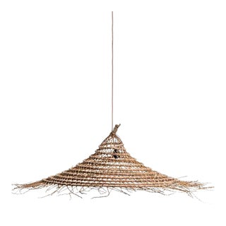 Large Date Palm Suspension Lamp For Sale