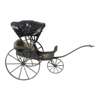 Antique Victorian Child's Goat Cart For Sale