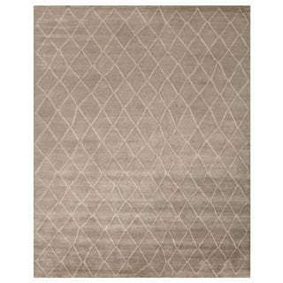 Stark Studio Rugs Contemporary Oriental 100% Bamboo Silk Rug - 3' X 9' For Sale