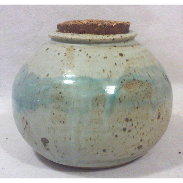Mid-Century Studio Pottery Stoneware Cookie Jar - Image 4 of 8