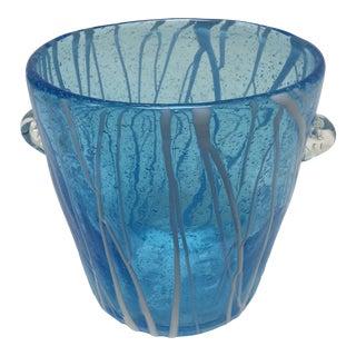 1960s Italian Pablo Venini Hand Blown Glass Ice Bucket For Sale
