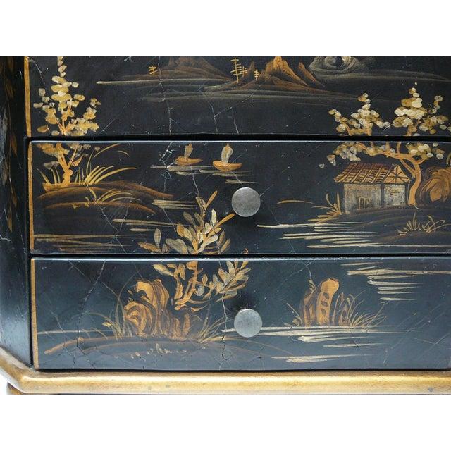 Handmade Chinese Black & Golden Jewelry Box - Image 5 of 7