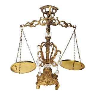 Vintage Ornate Justice Scale For Sale