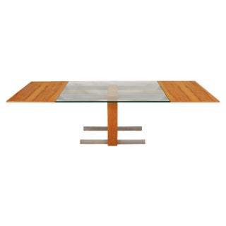 "Vladimir Kagan Mid Century ""Cubist"" Dining Table With Leaves and Console/Server For Sale"