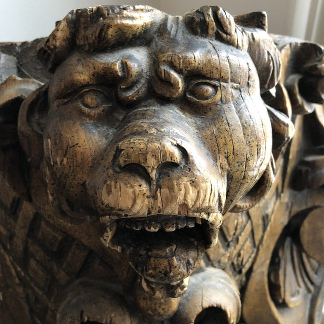 Your very own personal 19th Century carved gargoyle! Who doesn't need one of these? Beautifully carved wall shelf to flank...