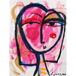 Lesley Grainger ' Heart on Her Sleeve' Original Face Painting For Sale