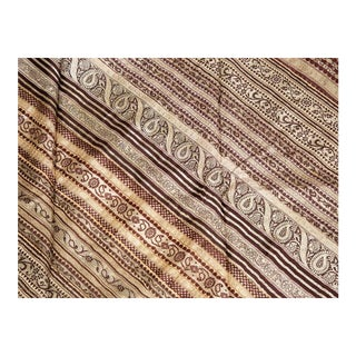 "Indian Sari Silk Embroidered Fabric - 89x106"" For Sale"