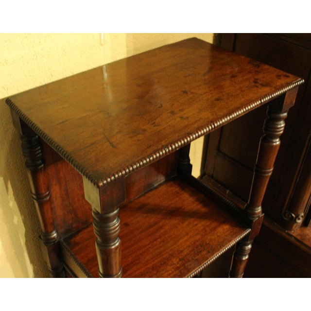English Mahogany Side Table/Bookcase For Sale In Raleigh - Image 6 of 8