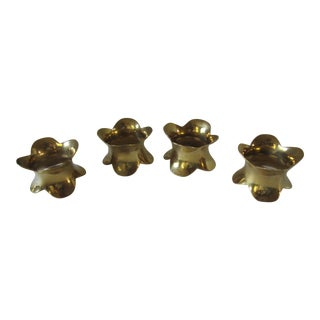 Brass Napkin Rings-4 For Sale