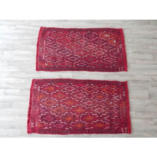 Vintage Turkish Kilim Rug 20.8'' X 38.5'' / 53x98cm 20.1'' X 38.5'' / 51x98cm Hand woven with high quality pure wool...