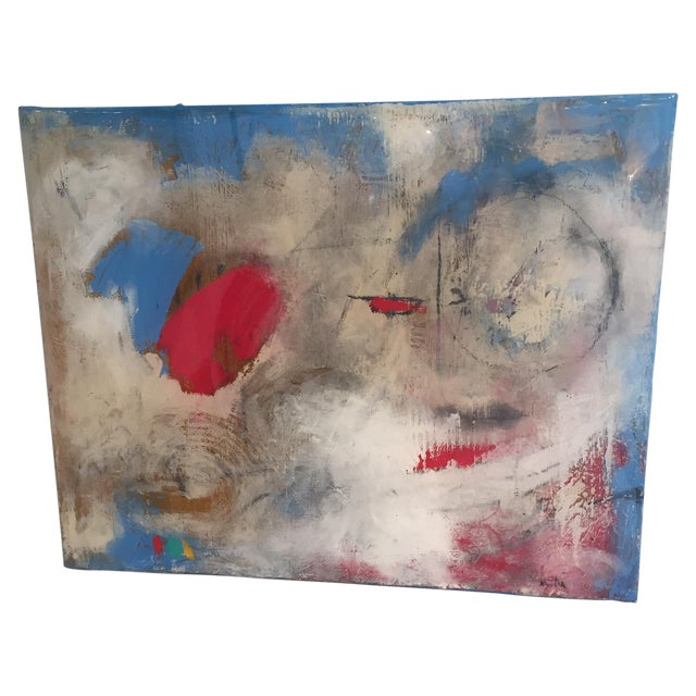 "Taffi Laing ""Poem"" Abstract Original Painting - Image 1 of 8"