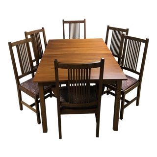 Stickley Solid Cherry Mission Dining Set For Sale
