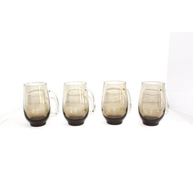 Set of Six Mid-Century Modern Tinted Glass Mugs by Libbey Glass Co. For Sale - Image 11 of 13