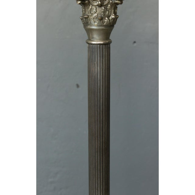 Metal French Neoclassical Style Floorlamp For Sale - Image 7 of 9