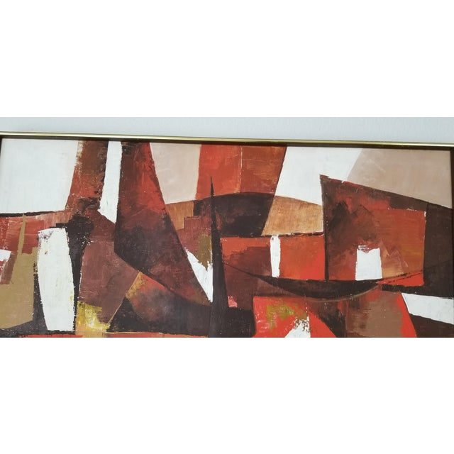 Mid-Century Acrylic on Canvas Painting by Palilo. For Sale - Image 11 of 13