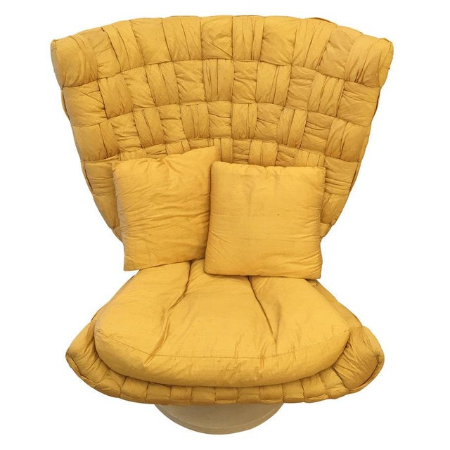 1970s Swivel Lounge Chair by Marzio Cecchi For Sale - Image 5 of 8