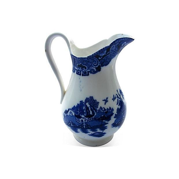 Antique English Willow Porcelain Jug - Image 3 of 4