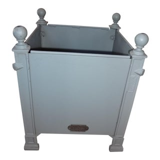New French Grey Iron Planter For Sale