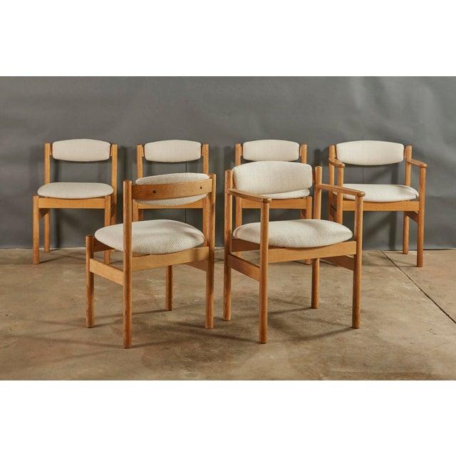 Mid-Century Modern Set of 6 Danish Oak Dining Chairs for Fdb Mobler by Jørgen Bækmark For Sale - Image 3 of 8