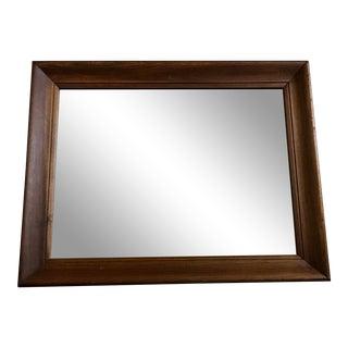 Antique Wood Framed Mirror For Sale