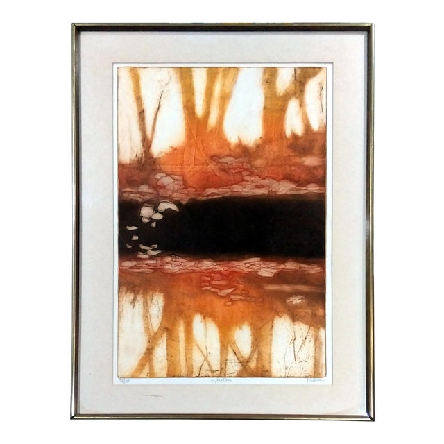 """Ruth Rodman """"Reflection"""" Aquatint Etching For Sale"""