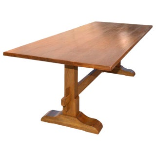 Dining Table in Vintage Walnut, Custom Made by Petersen Antiques For Sale