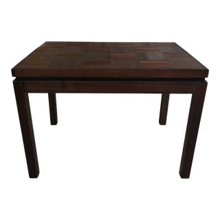 Mid Century Walnut and Rosewood End Table For Sale