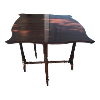Antique English Mahogany Drop Leaf Table For Sale