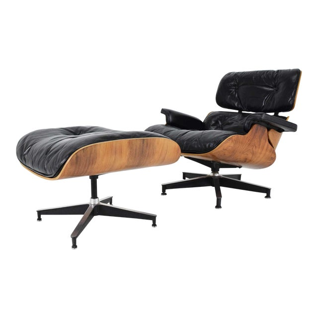 Eames 670 Lounge Chair & 671 Ottoman in Rosewood by Herman Miller For Sale