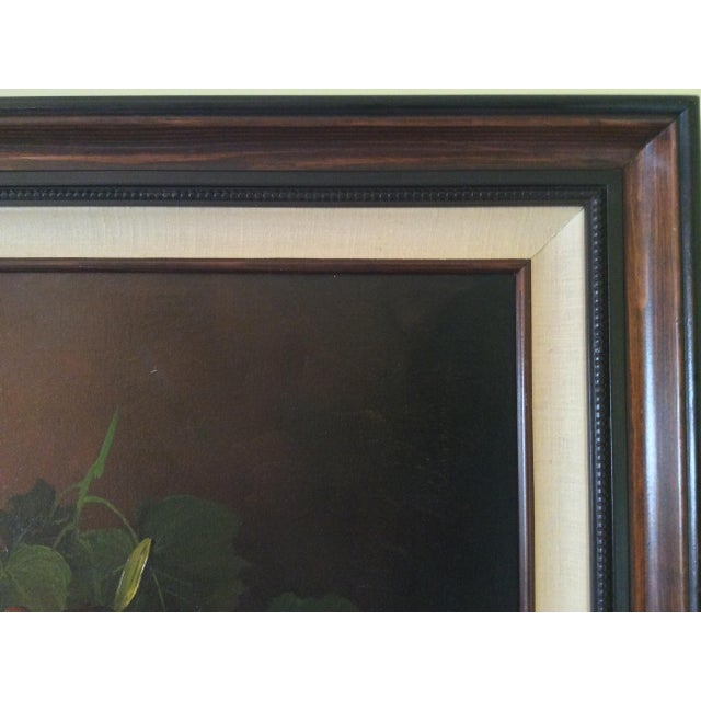 Green Mid-Century Frank Lean Still Life in Oil For Sale - Image 8 of 13