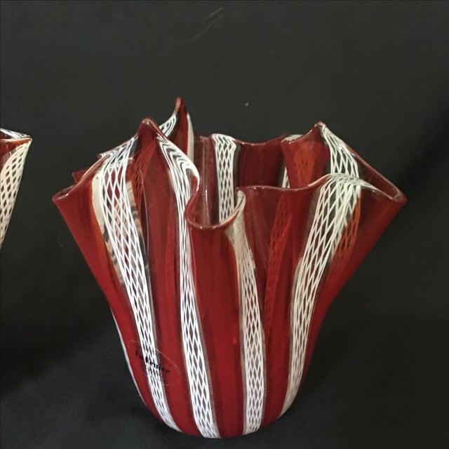 Venini Murano Handkerchief Vases - A Pair - Image 4 of 9