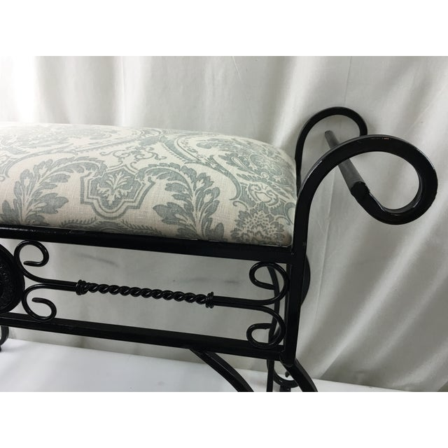 Wrought Iron Vanity Bench For Sale - Image 7 of 8