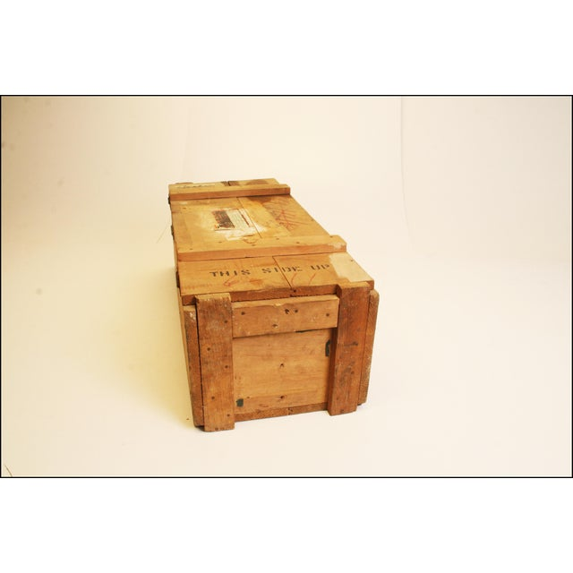 Vintage Wood Military Ammunition Trunk - Image 8 of 11