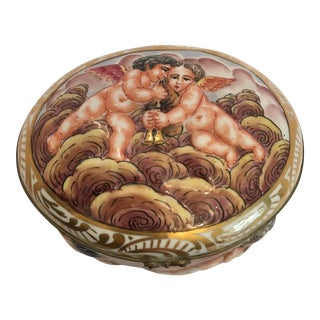 Naples Capodimonte Porcelain Box For Sale