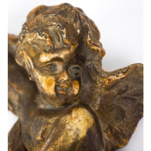 Ornamental & Decorative Materials 1960s Hollywood Regency Cherub Plaques - a Pair For Sale - Image 7 of 9
