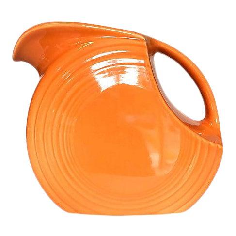 Tangerine Orange Fiesta Ware Disc Pitcher For Sale