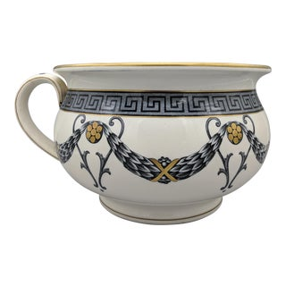 "Black & White ""Athens"" Pattern English Wedgwood Jardiniere For Sale"