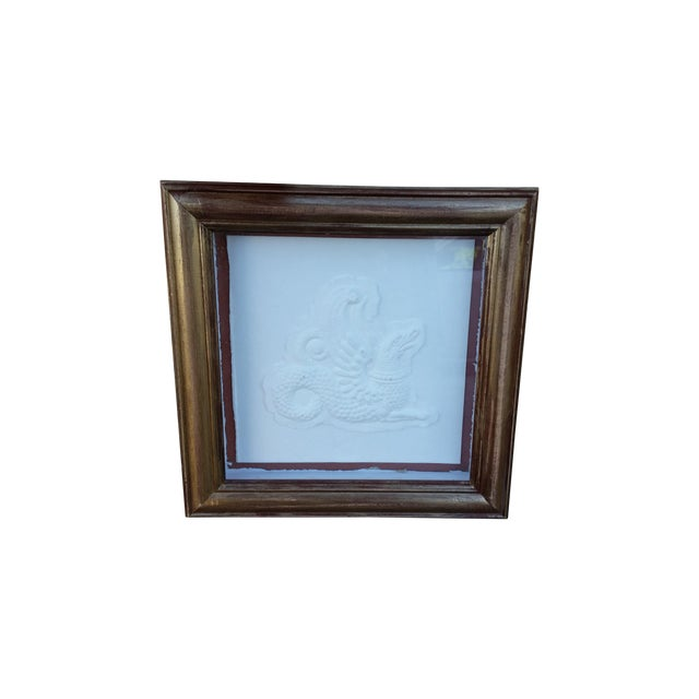 Framed Embossed Griffin - Image 5 of 5