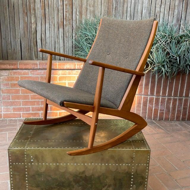 1950s Vintage Danish Georg Jensen Tønder Møbelværk Teak Rocking Chair For Sale - Image 10 of 10