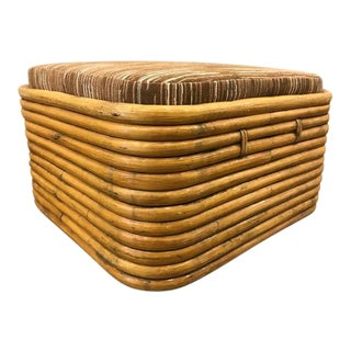 Paul Frankl Rattan Ottoman For Sale