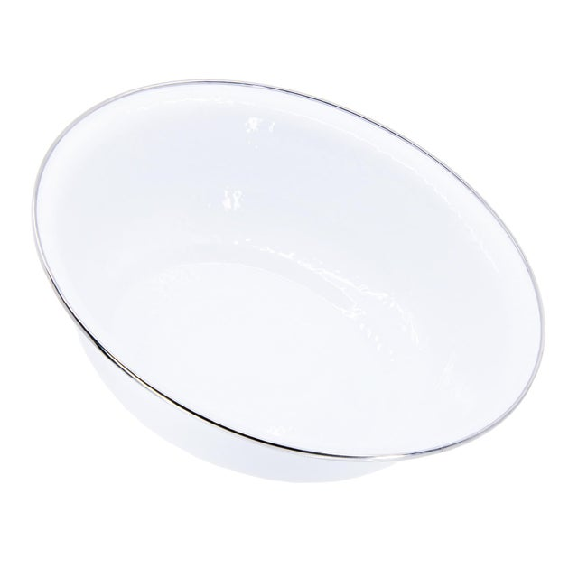 Modern Serving Basin White on White - 4 qts. For Sale - Image 3 of 3