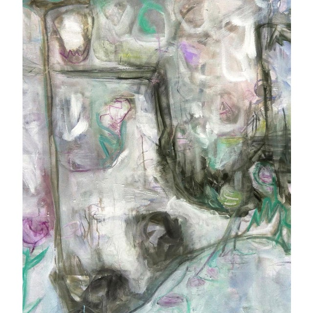 """Trixie Pitts's """"Monkey Business"""" Large Abstract Painting - Image 6 of 6"""