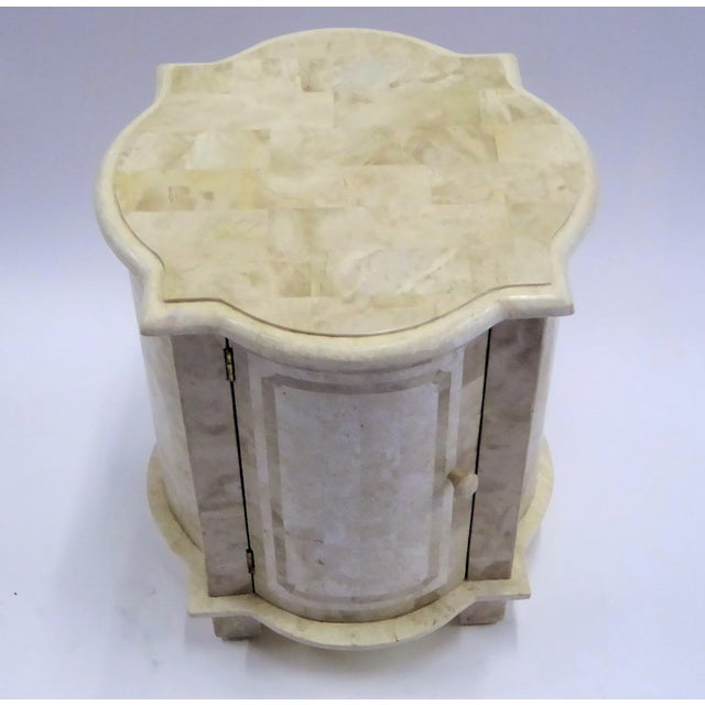 Tesselated Fossil Stone Nightstand End Table from Marquis Collection of Beverly Hills For Sale - Image 4 of 11