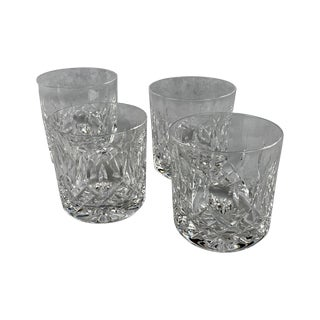 Set of Four Waterford Cut Crystal Old Fashioned Glasses, Pattern Lismore For Sale