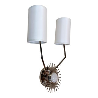 Hudson Valley Borland 2 Arm Wall Sconce in Polished Nickel For Sale