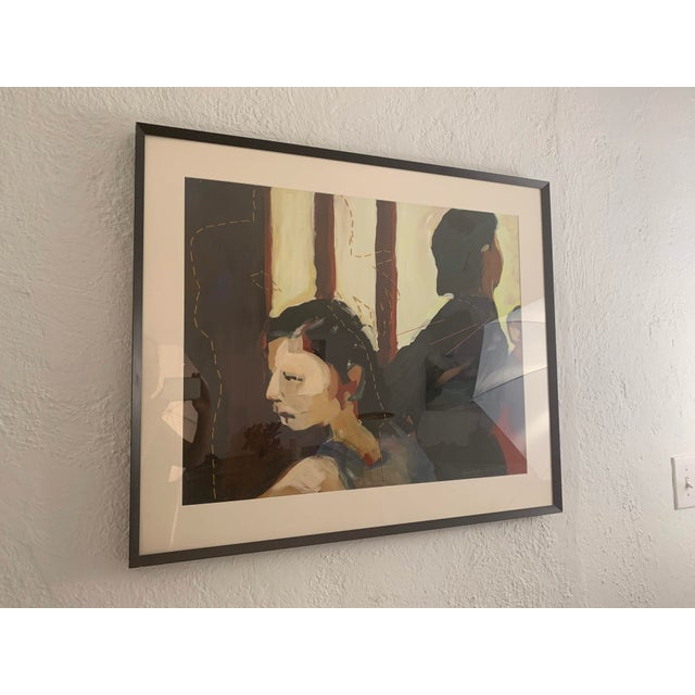 2000 - 2009 Susan Durfee Thulin 'The Dance' Large Framed Painting For Sale - Image 5 of 13