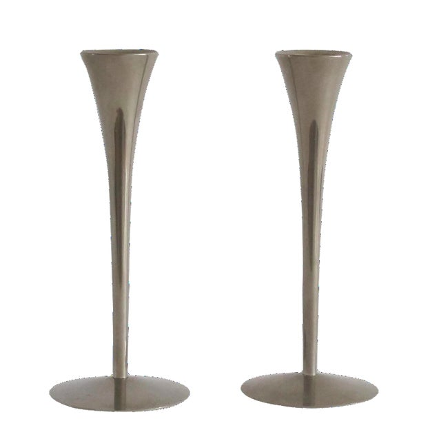 Danish Modern Candleholders - A Pair - Image 1 of 4