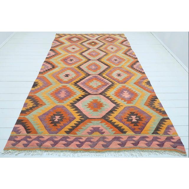 Vintage Turkish Barak Nomad's Flat Weave Rug For Sale - Image 12 of 12