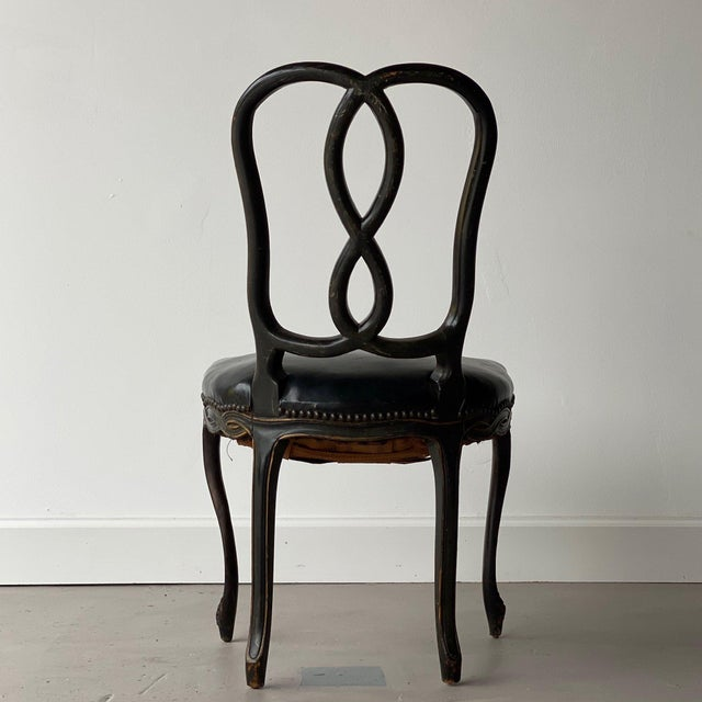 19th Century Painted Continental Chair For Sale In West Palm - Image 6 of 8